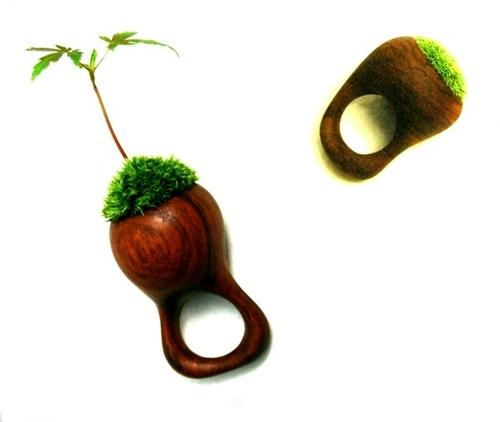Кольцо из натуральных материалов