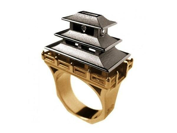 Необычное кольцо в восточном стиле