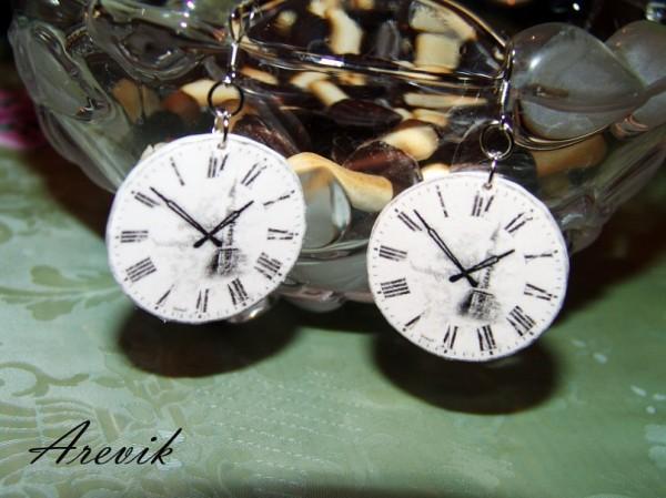 Серьги-часы