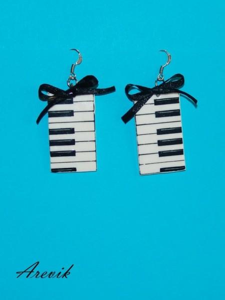Серьги-клавиши