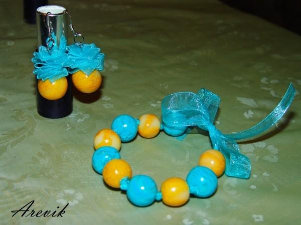 Желто-голубой комплект