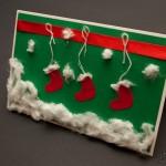 Скрапбукинг, мастер-класс по изготовлению новогодней открытки