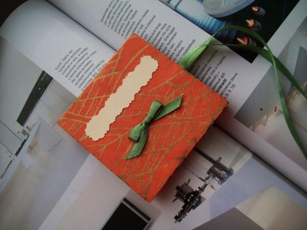 Коробка в технике скрапбукинг