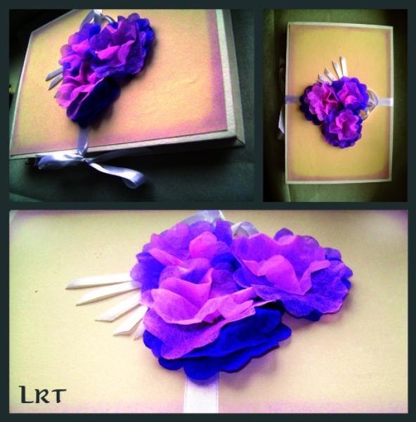 Коробочка декорированная искусственными цветами