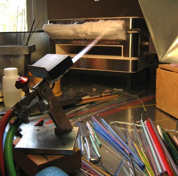 Рабочее место мастера техники лэмпворк