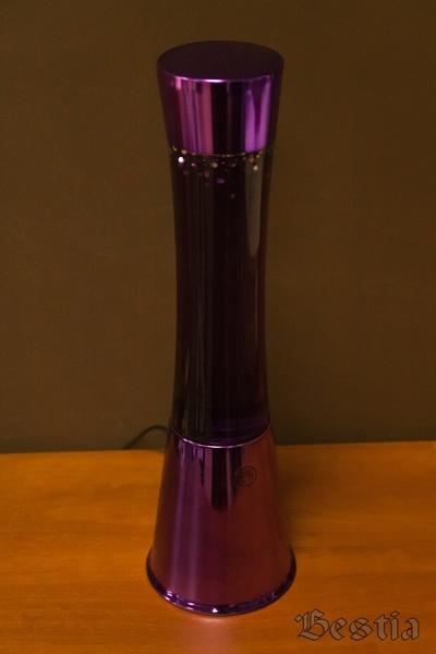Лампа с гелем и фиолетовыми блестками
