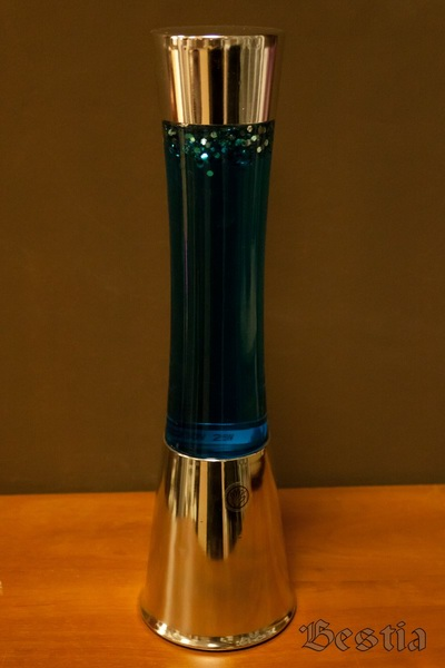 Сетильник с синим гелем и блестками