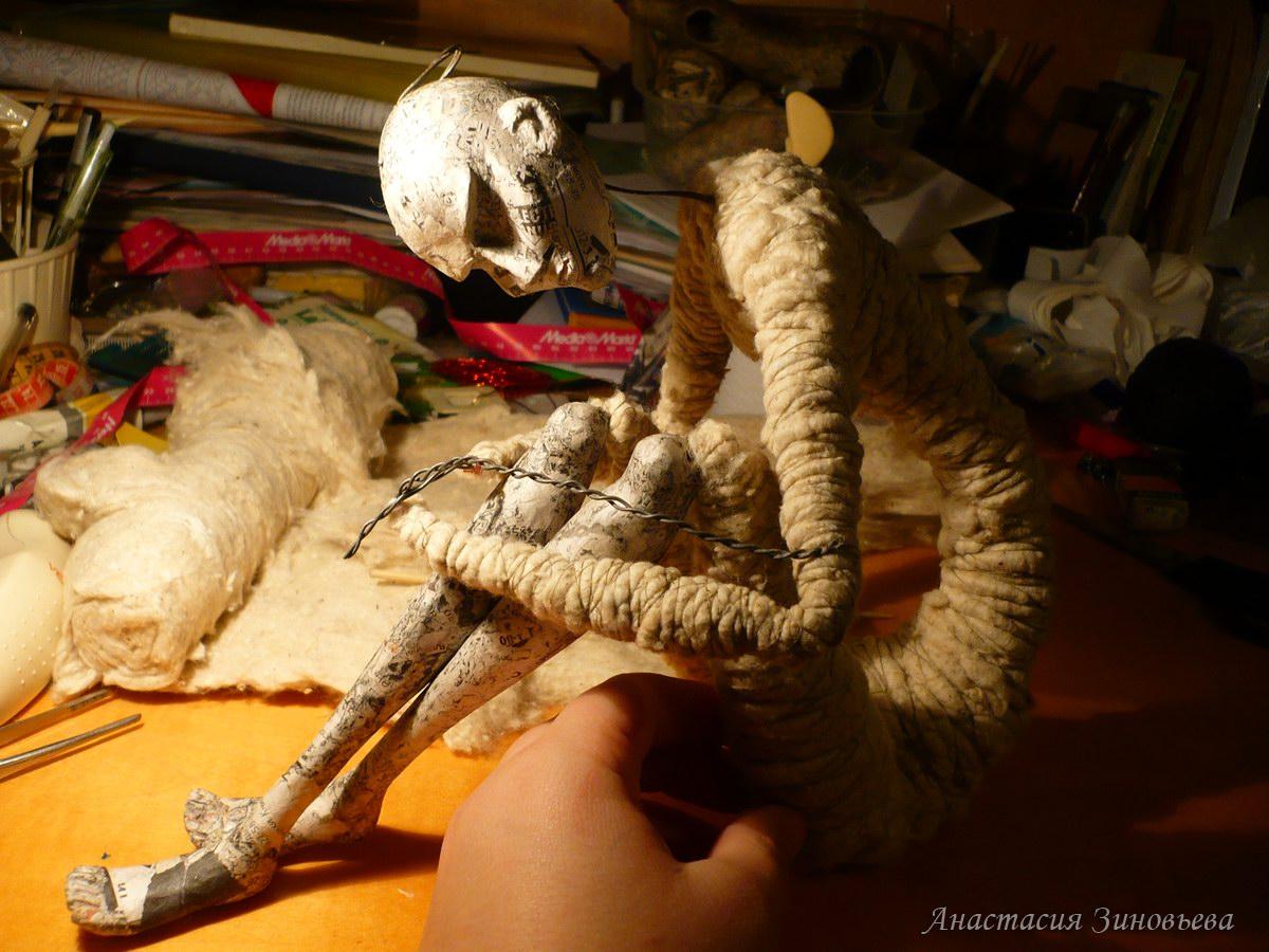 Изготовление каркасной куклы своими руками. Мастер-класс 46