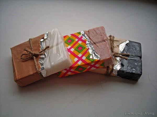 Мыло в форме шоколадных плиток