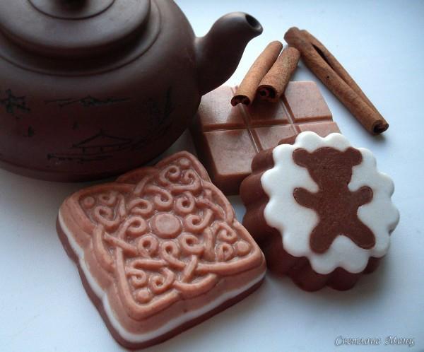 Шоколадное мыло с корицей
