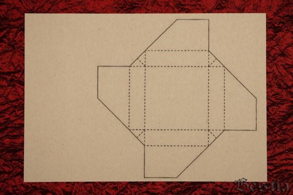Схема коробочки и голубого картона