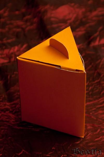Коробочка из желтого картона
