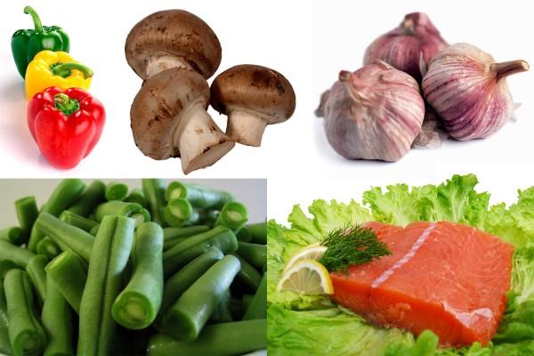 Ингредиенты салата с семгой
