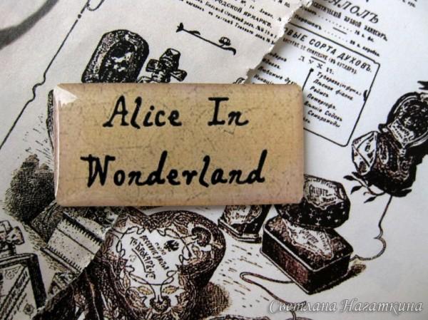 Скрап-фишки. Алиса в стране чудес. Фразы