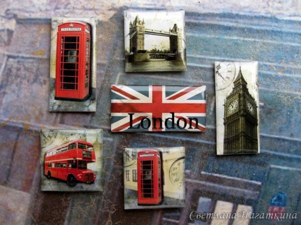 Скрап-фишки. Лондон