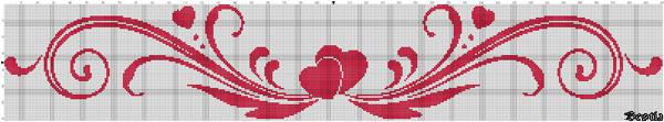 Орнамент с сердцами