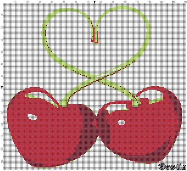 Сердца-вишенки
