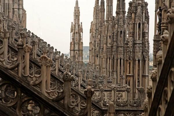 Множество шпилей миланского собора