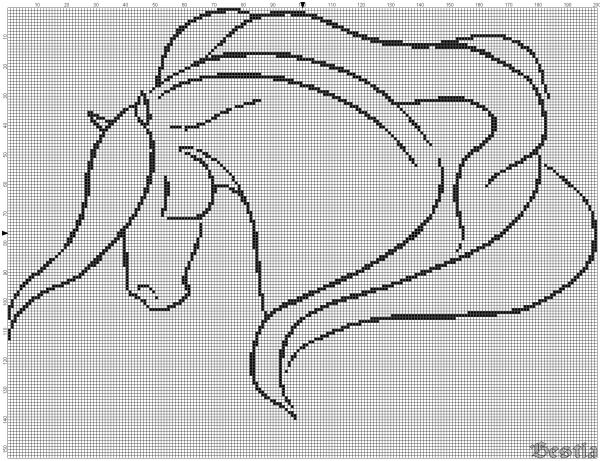 Лошадь с развевающейся гривой