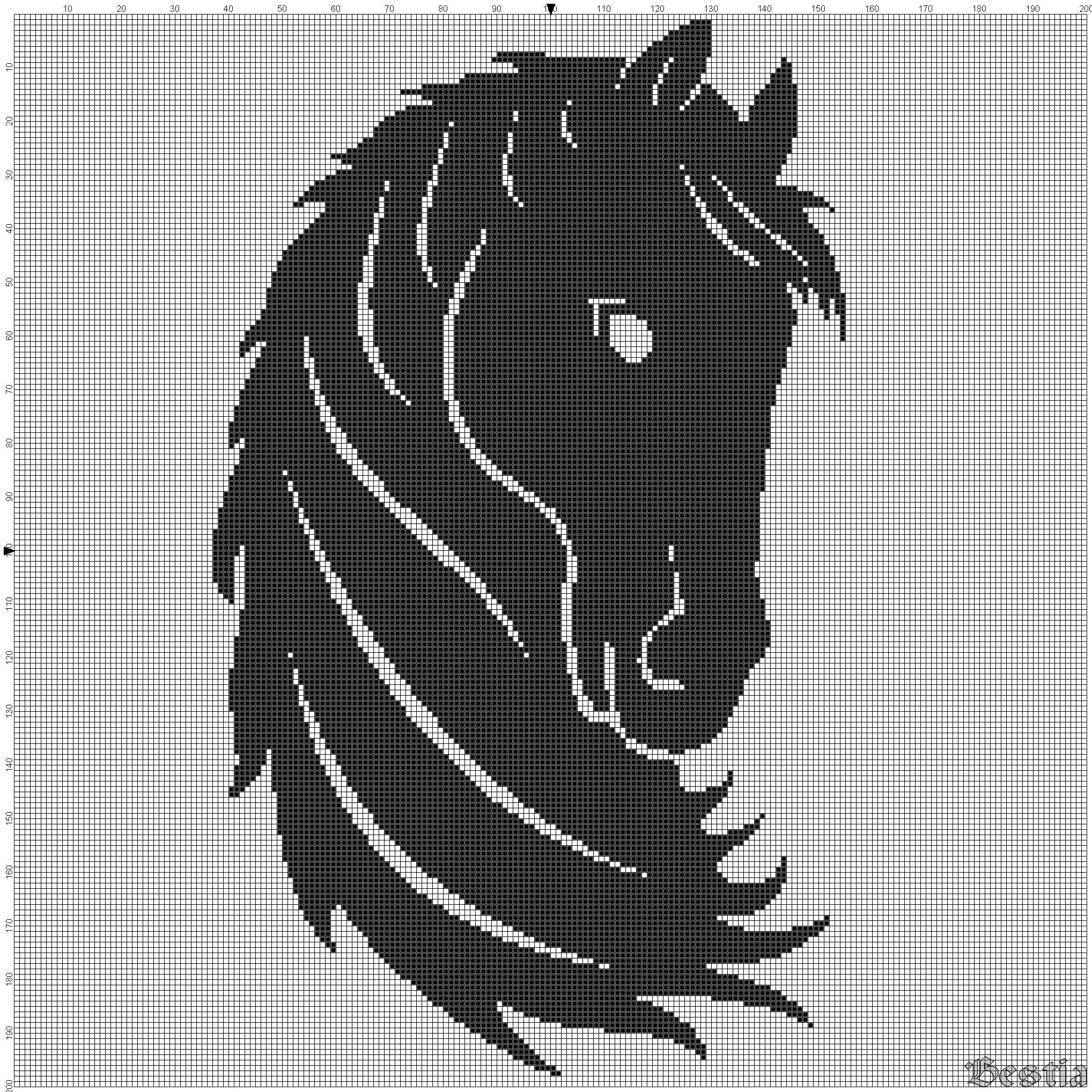 Схема вышивки крестом черной лошади фото 649