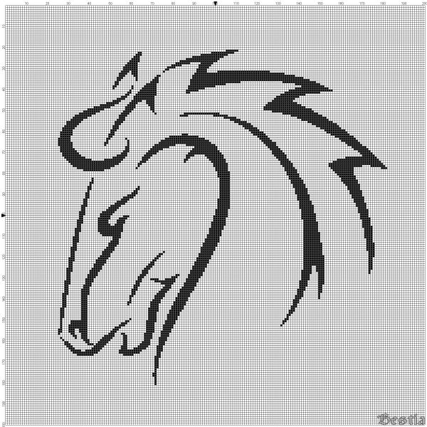 Лошадь в профиль