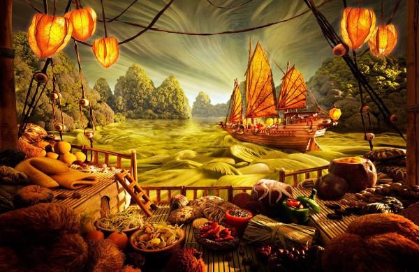 Пейзаж из еды