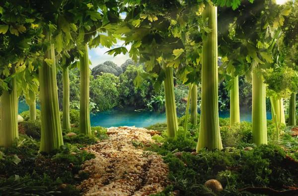 Пейзаж из зелени