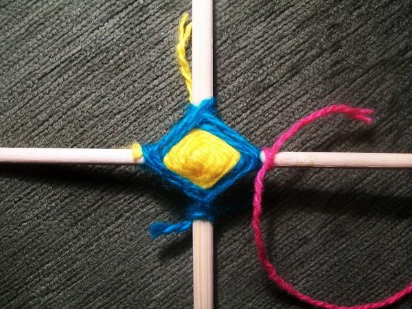 Привязывание малиновой нитки