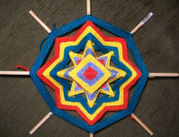 Плетение кольца мандалы