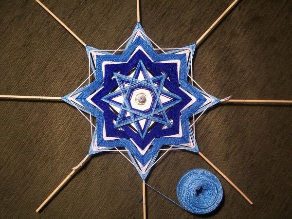 Синяя нить 4 ряда