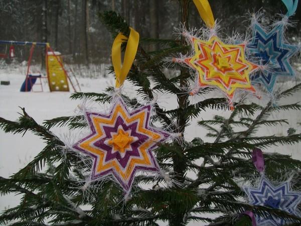 Готовые мандалы-снежинки