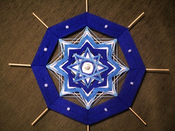 Плетение темно-синего циферблата