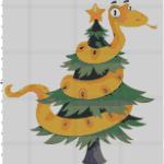 Змея на елке