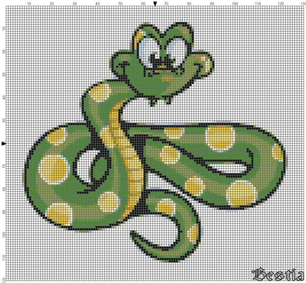 Желто-зеленая змея