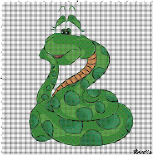 Змея на елке Зеленая змея