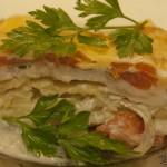 Запеканка с картофелем и рыбой