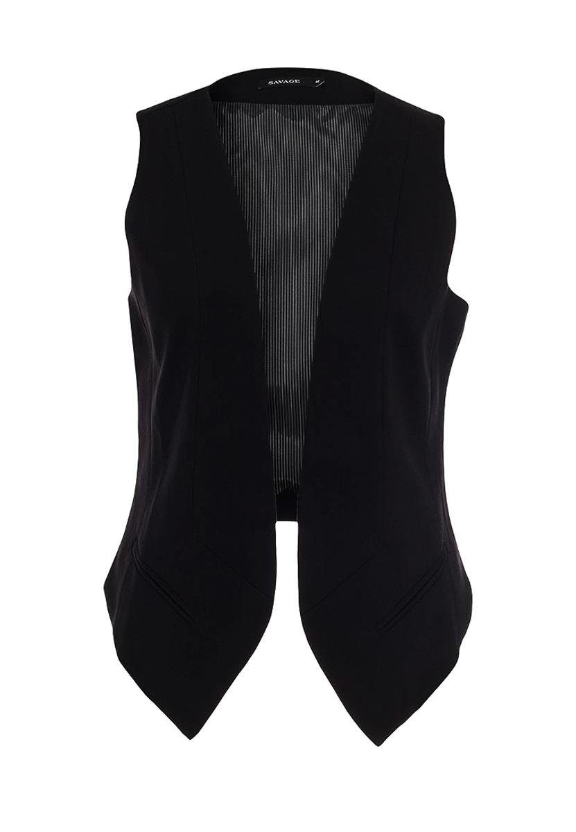 женские жилетки черные фото