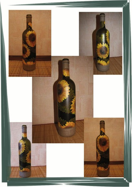 Декупаж бутылок. Полезные советы