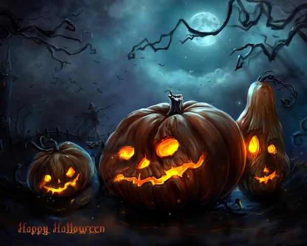 Хэллоуин. Обои для рабочего стола
