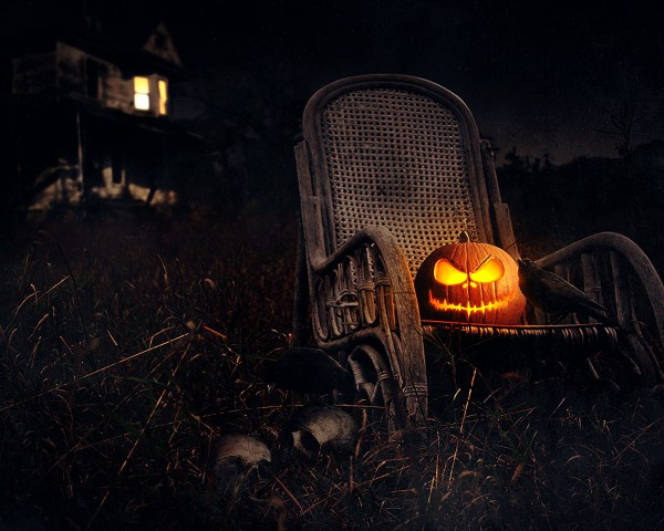 Хэллоуинская тыква-фонарь