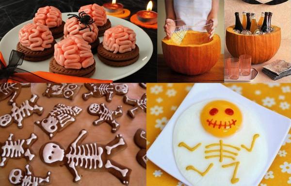 Украшение блюд на Хэллоуин