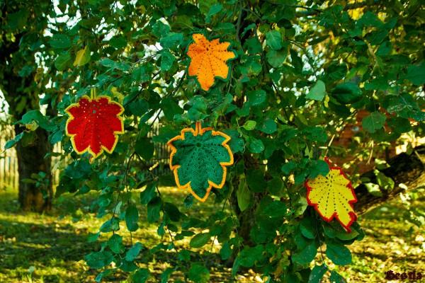 Кленовые листья крючком. Мастер-класс