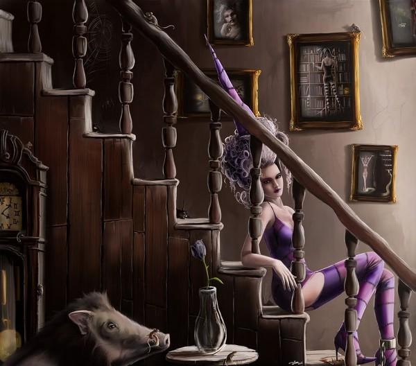 Ведьма на лестнице