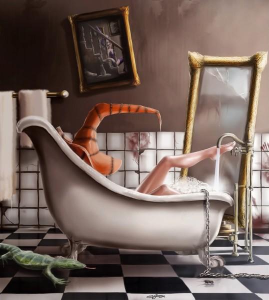 Ведьма в ванной