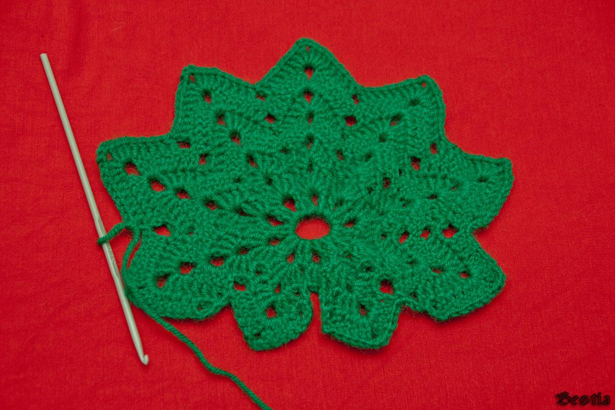 Вязание крючком листья 14
