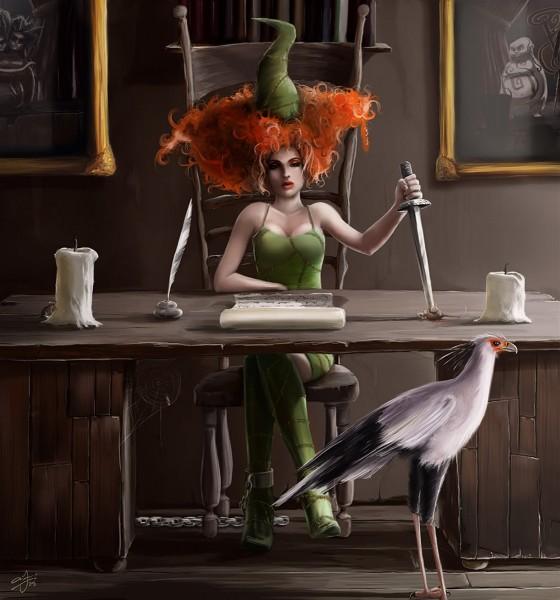 Ведьма с ножом